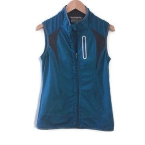 ATHLETA Prevail Ruffle Front Running Vest- Teal